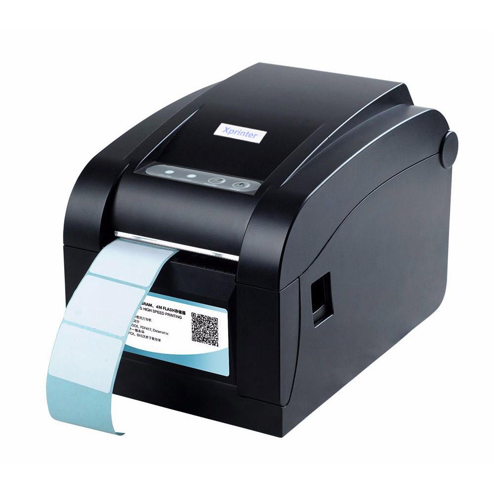 Máy in tem mã vạch Xprinter 350B Dòng máy in mã vạch công nghệ in nhiệt, không sử dụng mựcÁp dụng in tem mác, mã vạch, thông tin hàng hóa cho mô hình shop, trà sữa, có vòng thời gian sản phẩm nhanh do tính chất giấy cảm nhiệt, nên để điều kiện thường nhanh phai màu in.